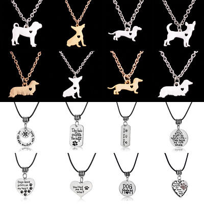 Charm Choker Pendant Necklace Jewelry Dog Cat Paw Prints Memento Friend Gift - Cat Choker