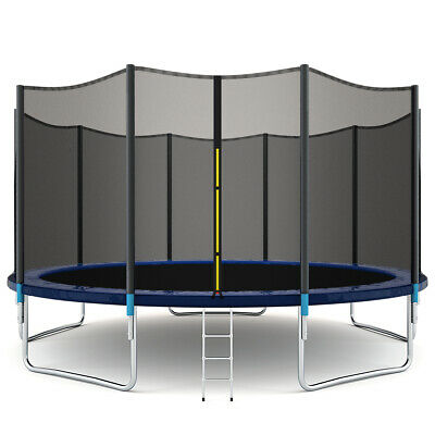 15FT Trampoline Combo Bounce Jump Safety Enclosure Net W/Lad