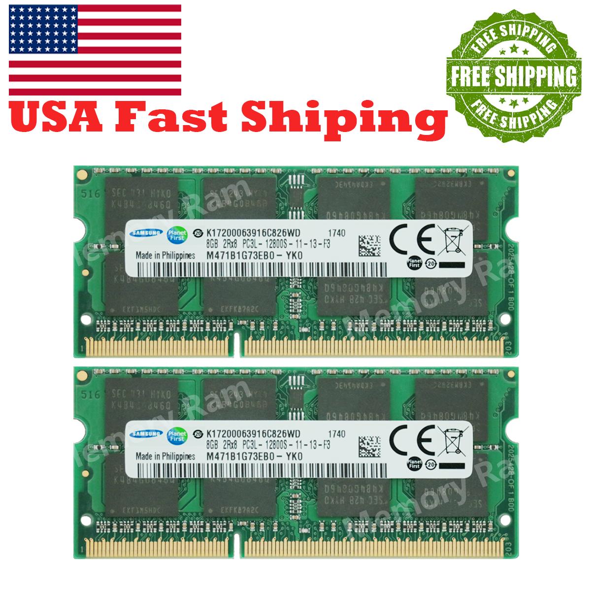 2X8GB SK Hynix 16GB SODIMM PC3L-12800S 1600 Mhz DDR3 Memory HMT41GS6DFR8A