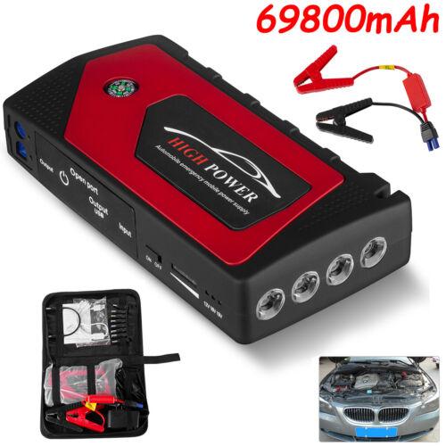 20000/69800mAh 12V Car Jump Starter Portable Power Bank Battery Charger Booster