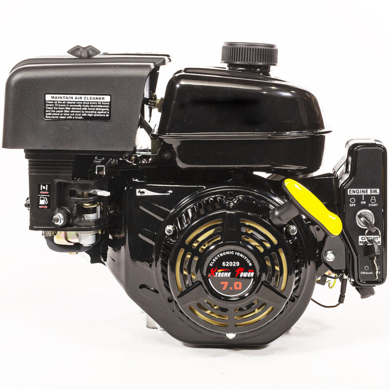 XtremepowerUS Electric Start 7 HP Go Kart Log Splitter Gas Power Engine Motor