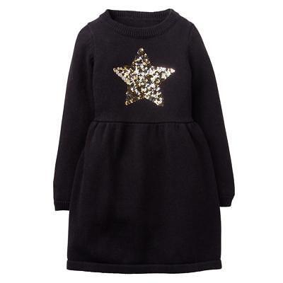 NWT Gymboree Winter Star Black Star Sweater Dress Girls 4,5/6,7/8,10/12,14