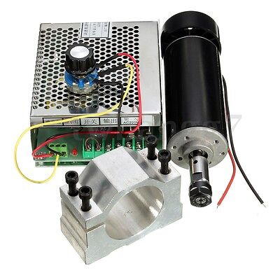 Er11 500w Spindle Motor 52mm Clamps Power Supply Speed Governor For Diy Cnc