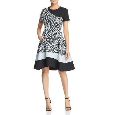 Cut Out Dress (Donna Karan Womens Zebra Cut-Out Cocktail Party Dress BHFO)