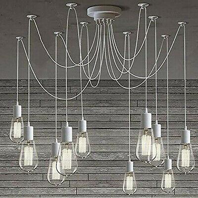 Lámpara de Araña Industrial Colgante Vintage Techo Forma E27 Blanco