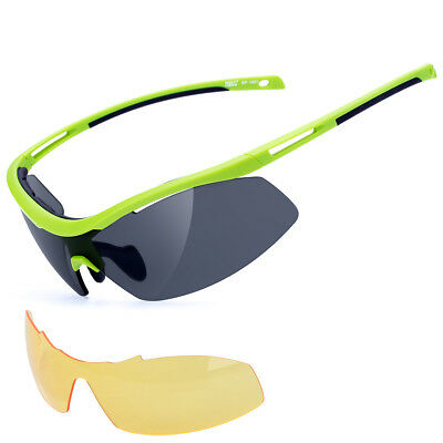 20fd9b9fa087 Polarized Cycling Sunglasses Goggles Eyewear Sport Glasses 2 Lens