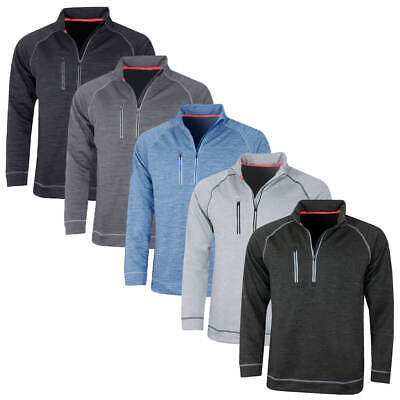 Puma Golf Mens Elevated Tech 1/4 Zip warmCELL Pullover Sweater 48% OFF RRP
