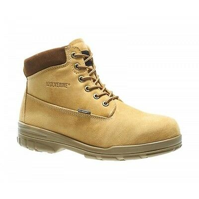 - New Men's Wolverine 10323 6 inch Durashock waterproof gold insulated Work Boots