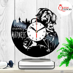 Harley Quinn Joker Batman Suicide Squad Vinyl Record Wall Clock Birthday Gift