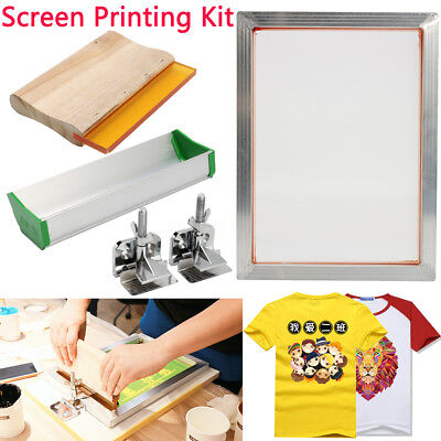 Screen Printing Kit Aluminum Frame Hinge Clamp Emulsion Coater  Ca