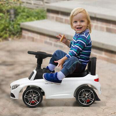 White Toddler Mercedes Benz Ride-on Push Car Foot Floor Riding Best Kids Cars