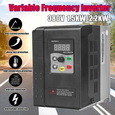 380v 1.5kw2.2kw 3 Phase Variable Frequency Drive Inverter Cnc Speed Control Vfd