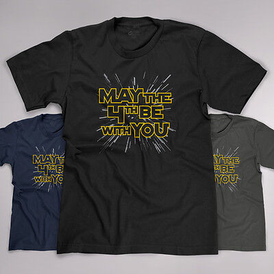 May The 4Th Be With You Star Wars Day Parody Funny Jedi Force New T Shirt Tee