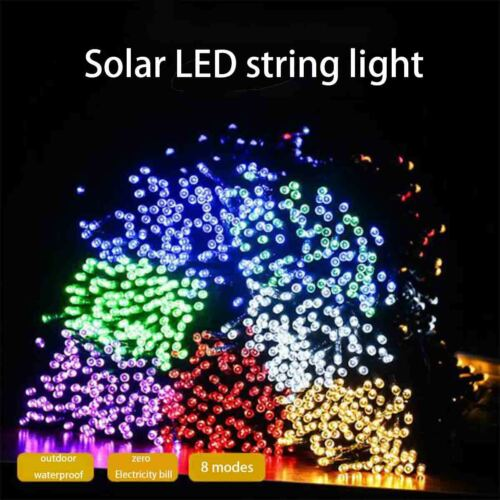 100 LED Solar String Lights Outdoor Garden Party Xmas Fairy Wedding Lamp
