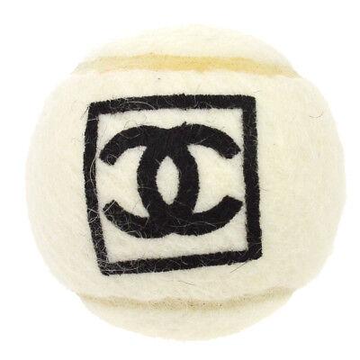 RARE!! Authentic CHANEL CC Sports Tennis Ball White Black Vintage NR10975a