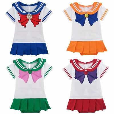 Infant Baby Girls Anime Usagi Sailor Moon Fancy Halloween Body Suit Dress Outfit