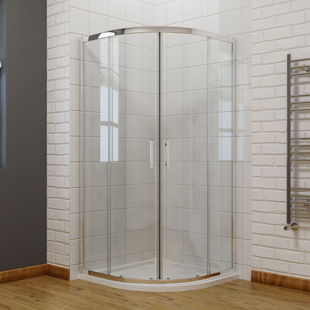 Frameless corner shower enclosures thermometer chemistry