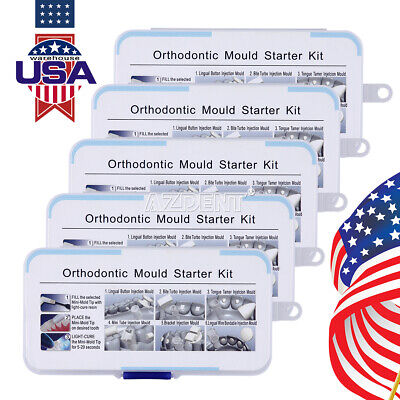 5 Packs Dental Mini Orthodontic Accessories Injection Mould 6type Mould