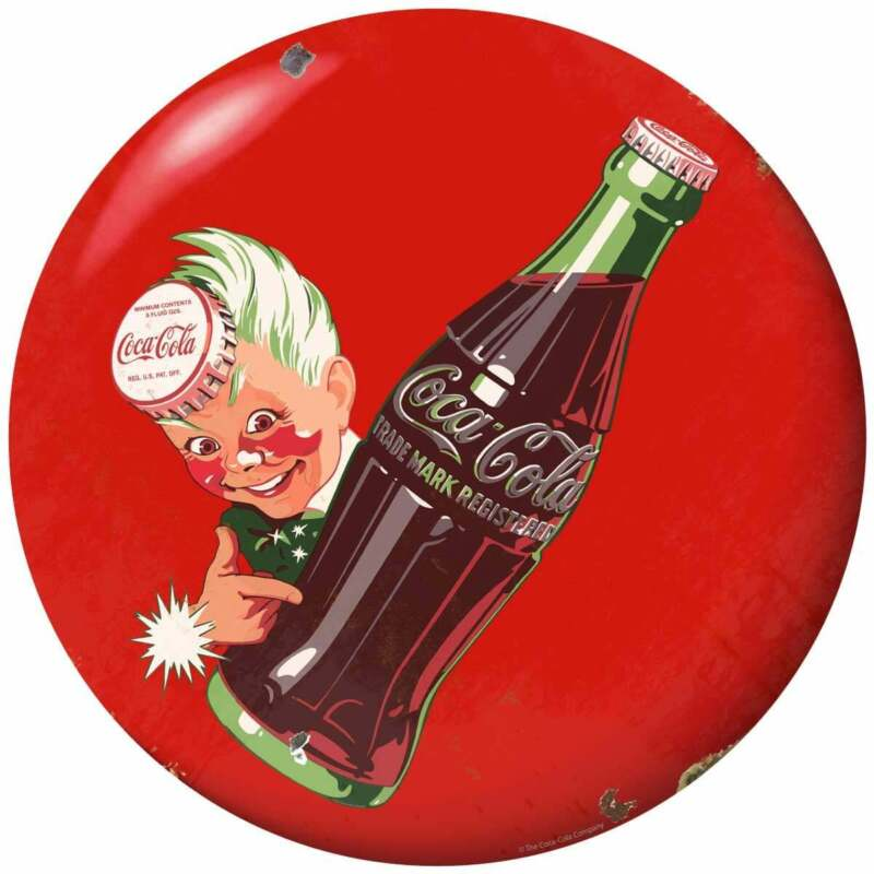 Coca-Cola Sprite Boy Bottle Button Decal Peel & Stick Wall Graphic