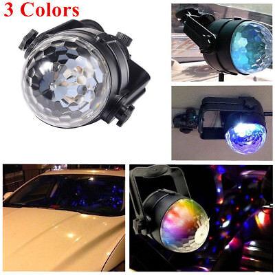 Car Disco DJ RGB LED Light Strobe Lighting Stage Party Bar 3 Color Rotatable USB - Party America Cheyenne