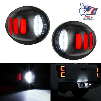2Pcs RED SMD Tube LED License Plate Tag Light Lamp 1999-2016 Ford F150 F250 F350