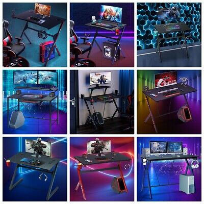 30-43 Ergonomic Gaming Desk Computer Table E-sports Gamer Carbon Fiber Texture