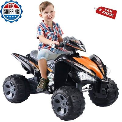 ATV For Kids Ride On Quad 4 Wheeler Electric Toy Car Battery 12V Power LED Light