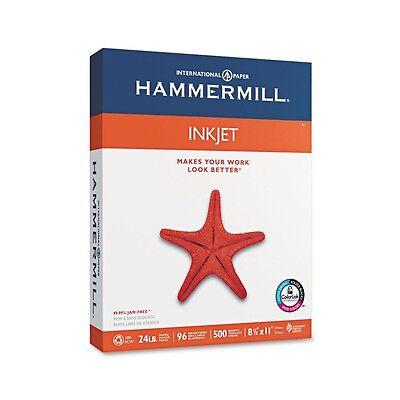 """Hammermill - Inkjet Paper, 24lb, 96 Bright, 8-1/2 x 11"""" - Ream 500 Sheets"""