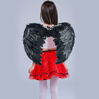 Black Amazing Cosplay Angle Wing For Fancy Restival In Kids ](Black Angle Wings)
