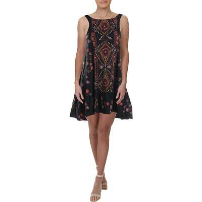 Intimately Free People Womens Black Floral Print Casual Dress XS BHFO 7517