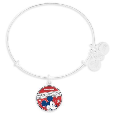 Mickey-mouse-banner (NEW ALEX & ANI MICKEY MOUSE BANNER SILVER BANGLE NWT SEALED SOLD OUT DISNEY PARK)