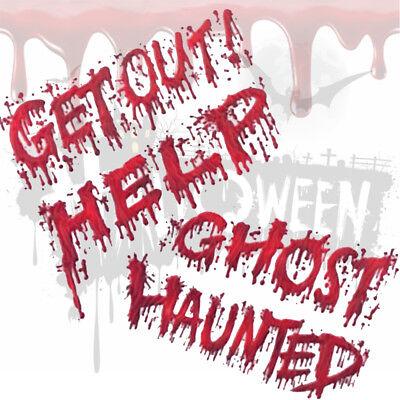 Halloween Bloody Messages with Blood Splatter Hands Window Stickers designs ](Halloween Messages)