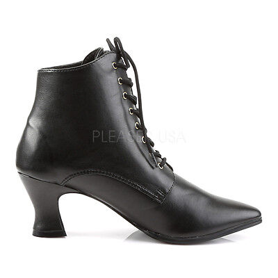 Black Witch Wizard Steampunk Costume Ankle Granny Boots Shoes Womans size 7 8 9 Adult Magic Witch Shoes