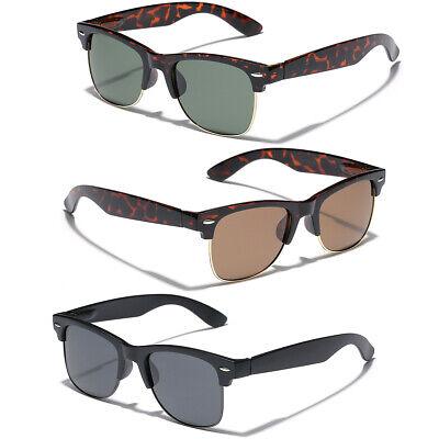 Oversize Polarized Half Frame Retro Vintage Glasses Men Big Wide Head (Retro Half Frame Sunglasses)