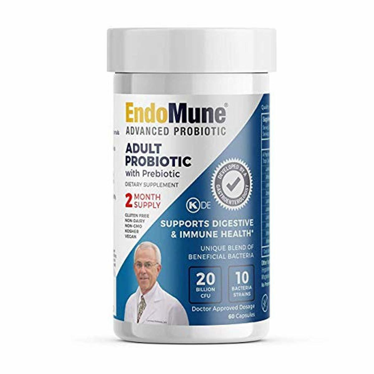 EndoMune Advanced Adult Multi-Strain Probiotic Supplement wi