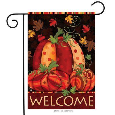 "Fall Festival Pumpkin Garden Flag Primitive Autumn Leaves 12.5"" x 18"""