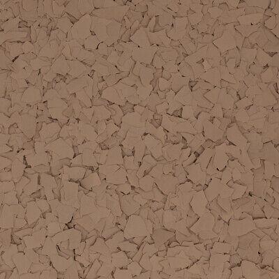Original Color Chips - Light Brown Garage Floor Epoxy Flakes 14 Per Pound