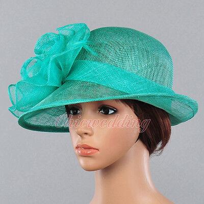 Fancy Women Sinamay Bridal Church Hat Kentucky Derby Tea Party Dress Hat Floral