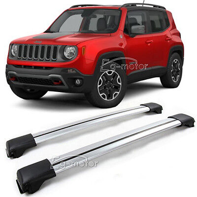 Aluminum Roof Rack Crossbar Luggage kayak Carrier For 2015-2017 Jeep Renegade