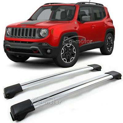 Aluminum Roof Oppress Crossbar Luggage kayak Carrier For 2015-2017 Jeep Renegade