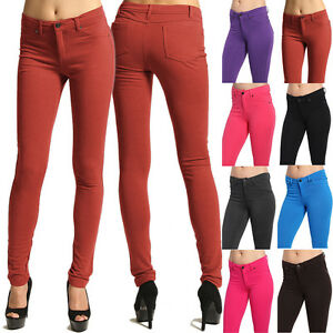 MOGAN-Colored-Knit-SKINNY-PANTS-Zipper-Stretch-Slim-Trousers-Jeggings-Leggings