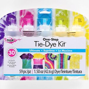 ULTIMATE Tie Dye 5 Colour Kit by Tulip - FREE POST - dyes up to 30 items DIY
