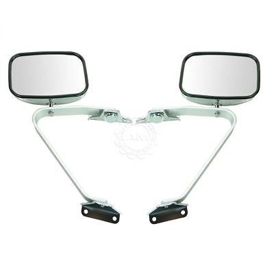 - Side View Manual Mirrors Chrome Pair Set for Ford F-Series Pickup Truck