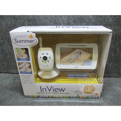 """Summer Infant 28650 InView 5"""" Digital Color Baby Monitor, White"""