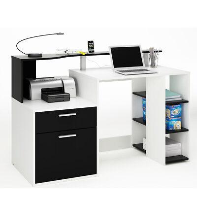 mputertisch in schwarz und weiß Dekor (Dekor In Schwarz Und Weiß)