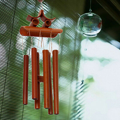 Bamboo Wind Chime Windchime Garden Yard Ornament ...