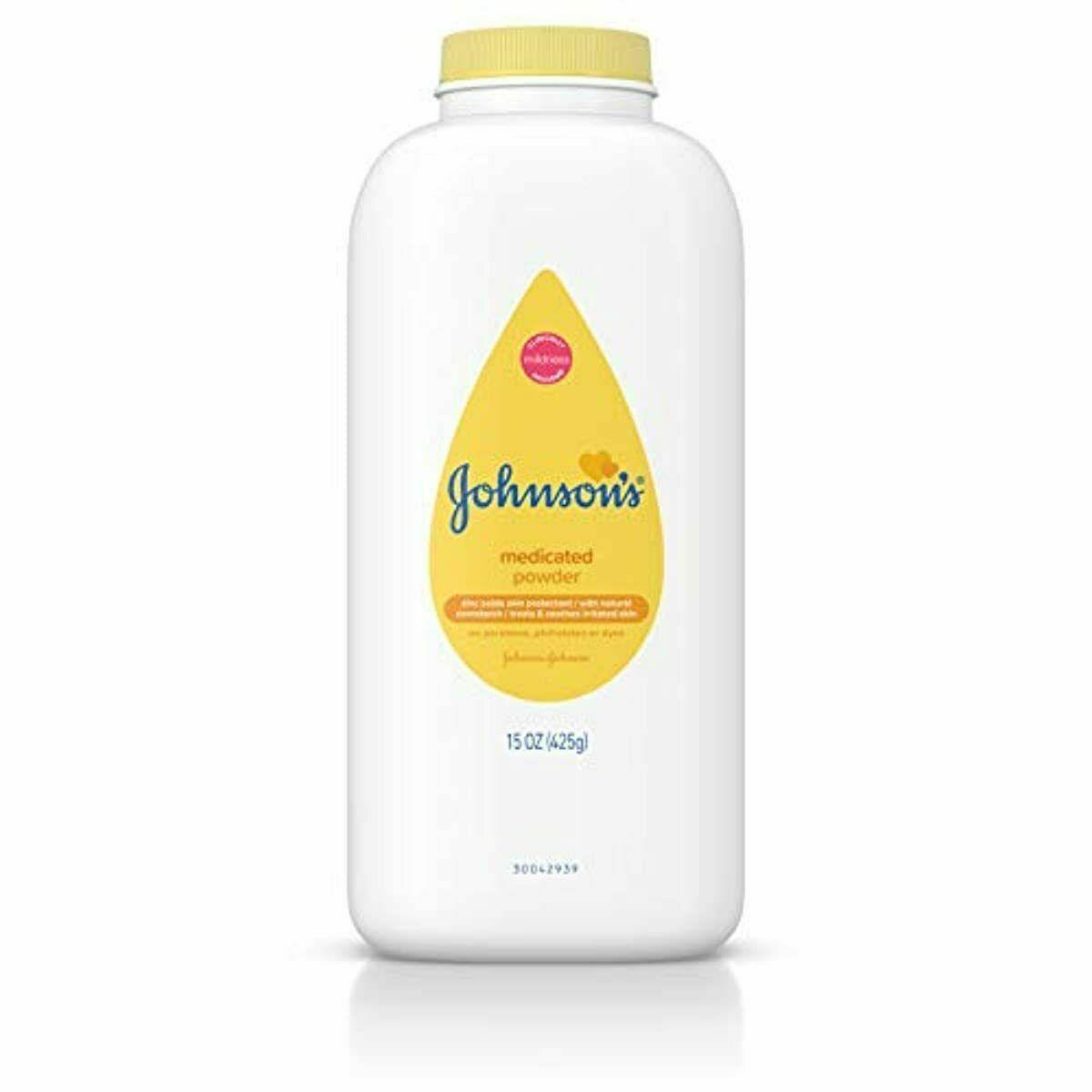 Johnson's Baby Powder, Medicated, 15 oz