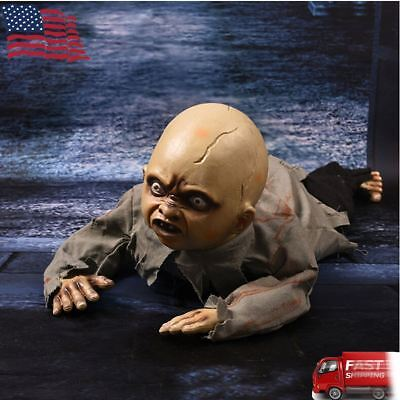Halloween Crawling Baby Zombie Prop Animated Horror Haunted House Party Decor - Animated Halloween