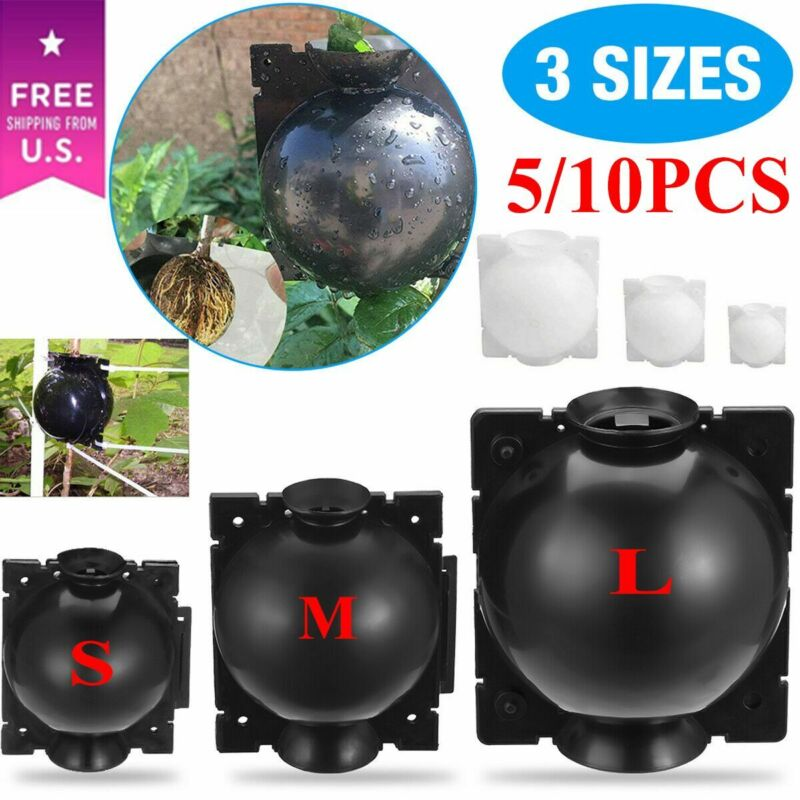 5/10 Reusable Plant Rooting Grow Box High Pressure Propagation Ball Layering Pod