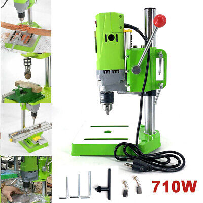 710w 110v Electric Bench Drill Press Stand Mini Metal Drilling Machine Home Diy